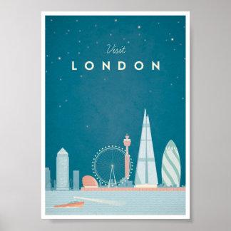 Affiche vintage de voyage de Londres