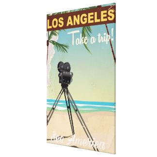 Affiche vintage de voyage de plage toiles