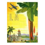 Affiche vintage de voyage, Los Angeles, la Califor Cartes Postales