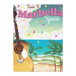 Affiche vintage espagnole de vacances de Marbella Toiles
