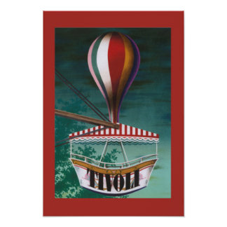 Affiche vintage iconique de parc d'attractions de