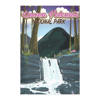 Affiche volcanique de voyage de parc national de toiles
