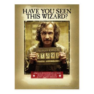 Affiche voulue noire de Sirius Carte Postale