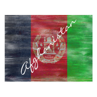 Afghanistan beunruhigte afghanische Flagge Postkarte