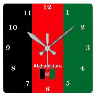 Afghanistan-Wanduhr Quadratische Wanduhr