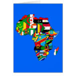 Afrika-Karte der afrikanischen Landesflaggekarte A