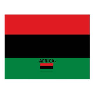 Afrika-Landesflagge Postkarte