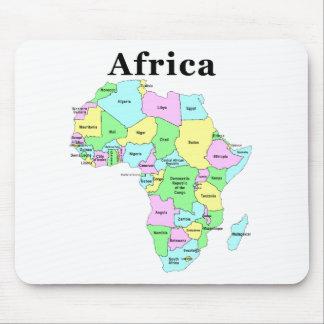 Afrika - politische Karte Mauspads