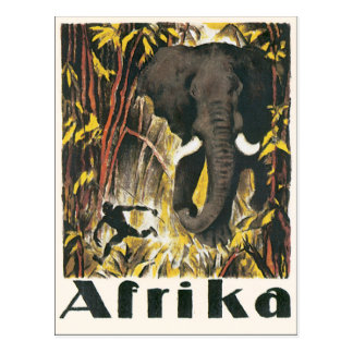 Afrika Vintages Reise-Plakat Postkarte