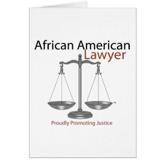 Afrikaner-Amerika-Rechtsanwalt Karte