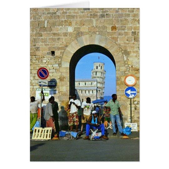 Afrikaner in Pisa, Italien Karte