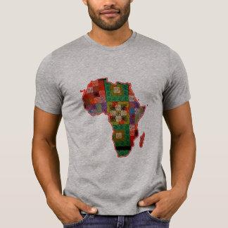 Afrikanerafrika-Kartenafrikanermuster-T - T-Shirt