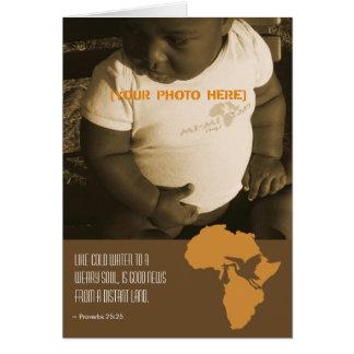 Afrikanische Adoption - Mitteilungs-Karten Karte