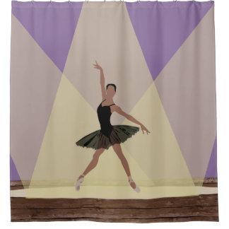 Afrikanische amerikanische Ballerina auf Duschvorhang