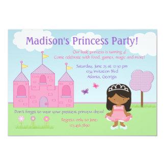 Afrikanische amerikanische Prinzessin Party 12,7 X 17,8 Cm Einladungskarte