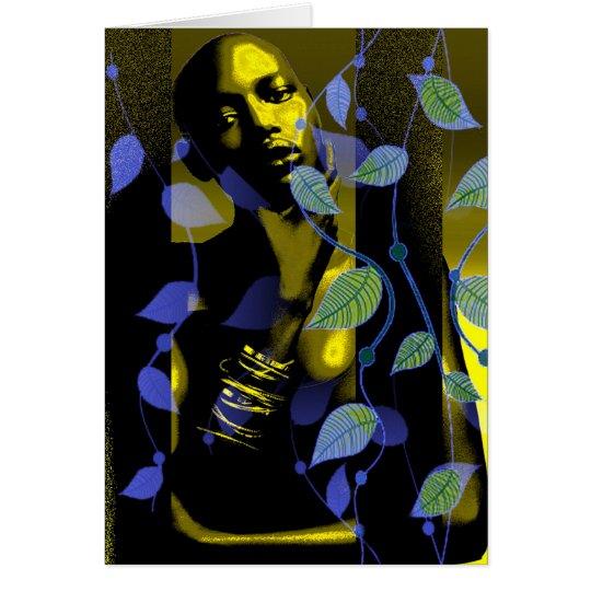 Afrikanische Dame In Gold Karte
