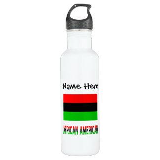 Afrikanische Diaspora kennzeichnen und Edelstahlflasche