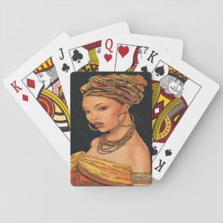 Afrikanische Frau, Marie Leveou, Vintage Art Spielkarten