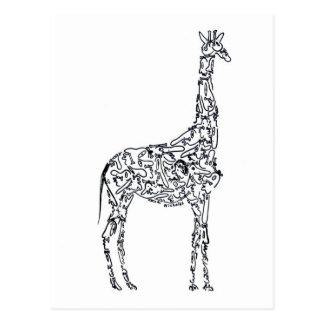 AFRIKANISCHE GIRAFFE durch NICHOLAS Postkarte