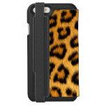 Afrikanische Imitat-Leopard-Stellen Incipio Watson™ iPhone 6 Geldbörsen Hülle