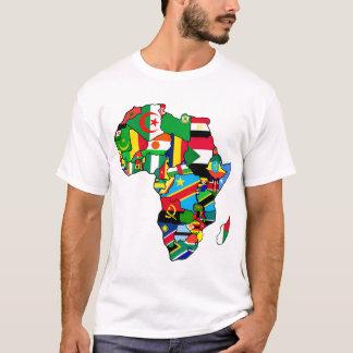 Afrikanische Karte von Afrika-Flaggen innerhalb T-Shirt
