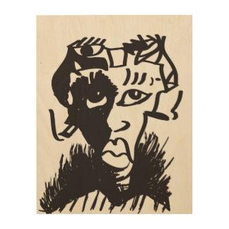 Afrikanische Mann-abstrakte Kunst-hölzerne Holzdruck