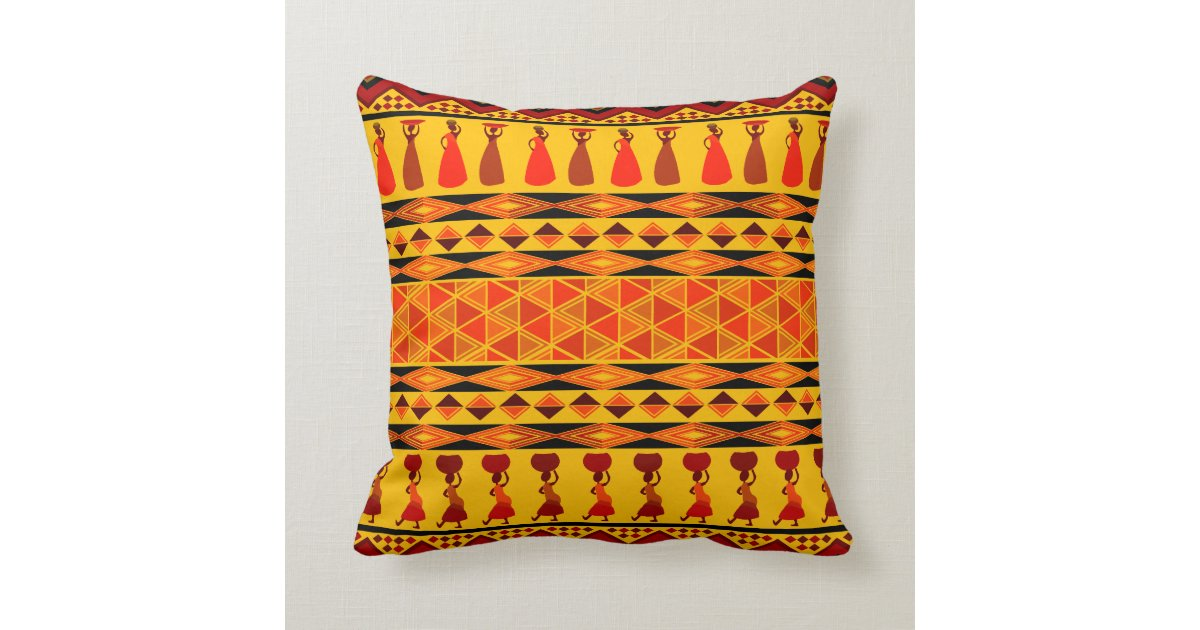 afrikanische muster kissen 2 kissen zazzle. Black Bedroom Furniture Sets. Home Design Ideas