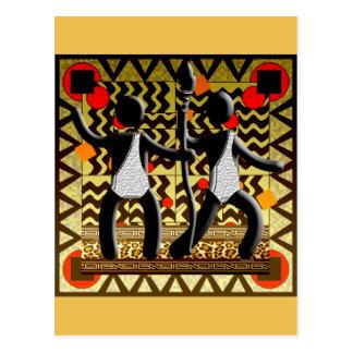 Afrikanische Olympia, die die Stange führend läuft Postkarte