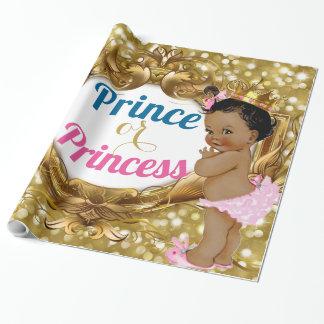 Afrikanische Prinz-oder Prinzessin-Glitter Geschenkpapier