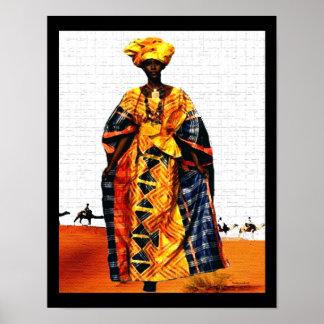 Afrikanische Stammes- Wüsten-Königin Poster