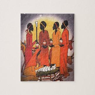 Afrikanische WeihnachtsGeburt Christis-Szene