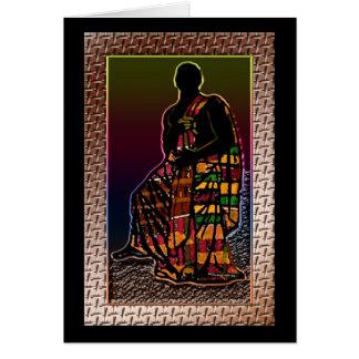 Afrikanischer betender Mann Karte