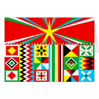 Afrikanischer Druck-Entwurf Kente Stoff-Stammes- Karte