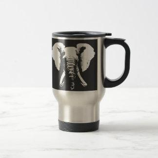 Afrikanischer Elefant Edelstahl Thermotasse