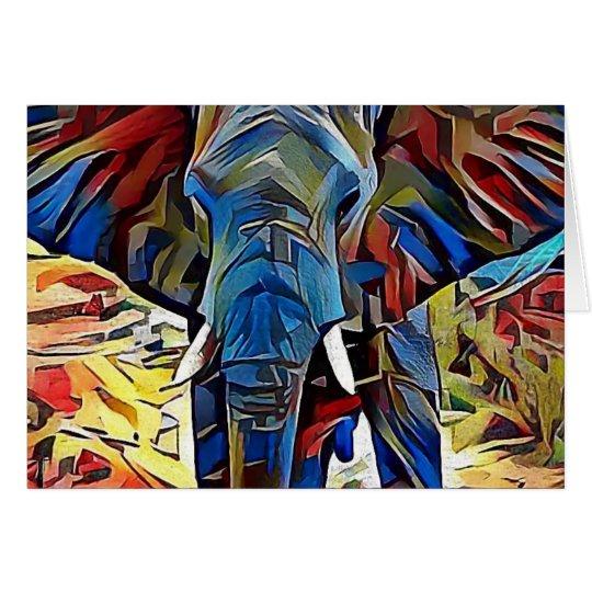 Afrikanischer Elefant Grußkarte