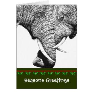 Afrikanischer Elefant-Weihnachtskarte Grußkarte