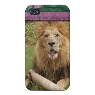 Afrikanischer Löwe-Speck-Kasten Etui Fürs iPhone 4