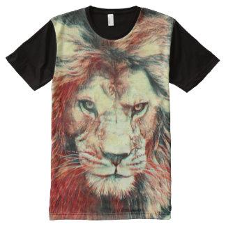 Afrikanischer Löwe-surreales T-Shirt Mit Komplett Bedruckbarer Vorderseite