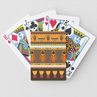 Afrikanischer Masken-Trommel-Muster-Druck-Entwurf Bicycle Spielkarten