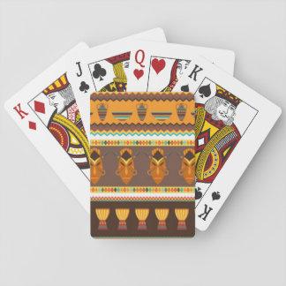 Afrikanischer Masken-Trommel-Muster-Druck-Entwurf Spielkarten