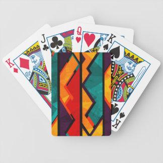 Afrikanischer mehrfarbiger Muster-Druck-Entwurf Bicycle Spielkarten