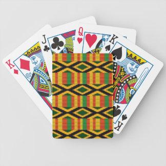 Afrikanischer multi Farbmuster-Druck-Entwurf Bicycle Spielkarten