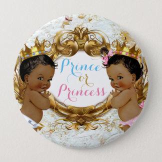Afrikanischer Prinz oder Prinzessin Gender Reveal Runder Button 10,2 Cm