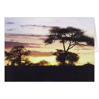 Afrikanischer Sonnenuntergang Karte