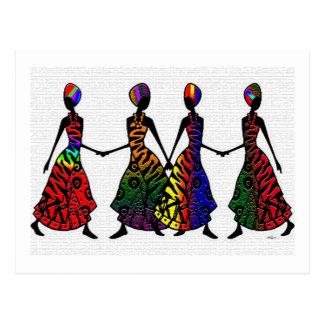 Afrikanischer Tanz von Sisterhood Postkarte