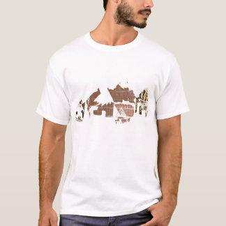 Afrikanisches Dorf-T-Stück für Männer T-Shirt