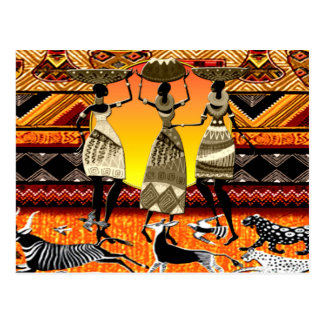 Afrikanisches Fest Postkarte
