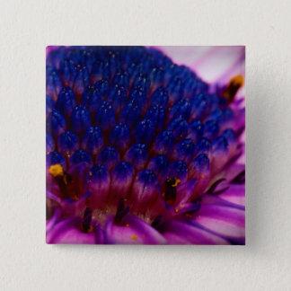 Afrikanisches Gänseblümchen-Blüten-Quadrat-Knopf Quadratischer Button 5,1 Cm