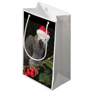Afrikanisches Grau-Papageien-Feiertags-Wein-Tasche Kleine Geschenktüte