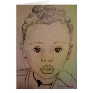 Afrikanisches Kind - Hoffnung lebendiges Notecard Karte